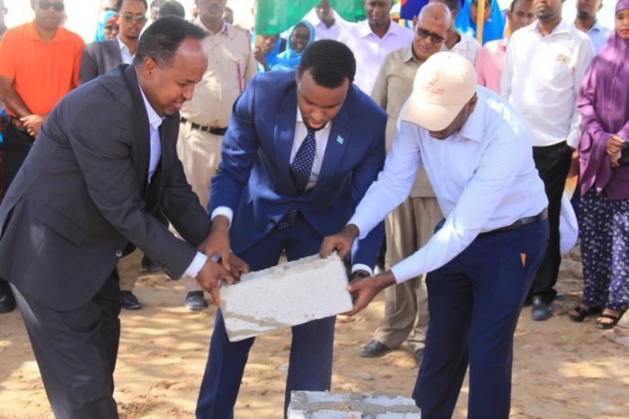 Banadir Regional Administration Lays Foundation Stone Of A New MCH In Wadajir District