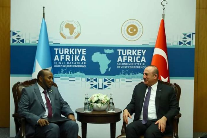 Somalia State Minister For Foreign Affairs Meets Turkish Foreign Minister In Istanbul