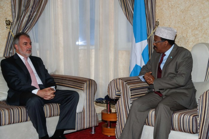 Somali President Receives Credential Letter from Spain Ambassador