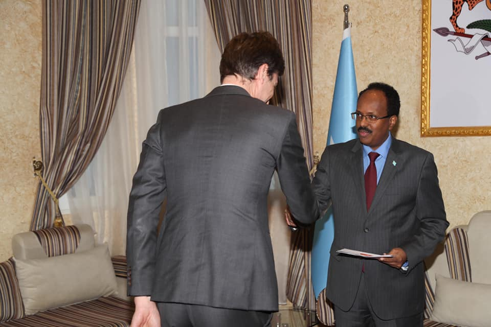Somalia president receives credentials from belgium ambassador the president of federal republic of somalia mohamed abdullahi farmajo has received credential letters from the new ambassador of belgium nicolas nihon in m4hsunfo
