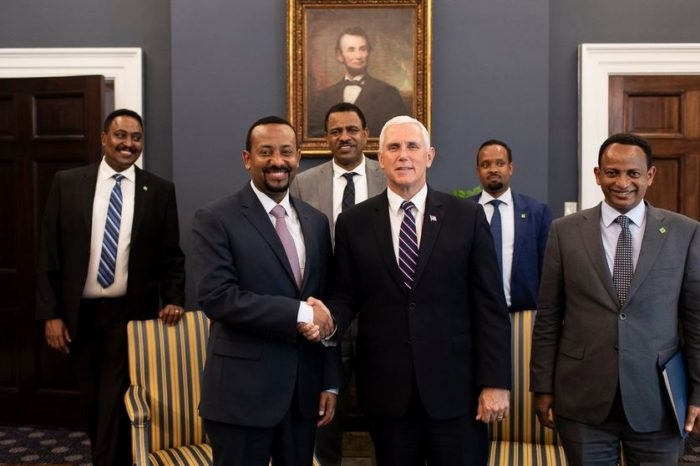 Pence meets with Ethiopian prime minister, applauds reforms