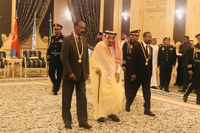 Ethiopia-Eritrea leaders awarded for peace deal in Jeddah