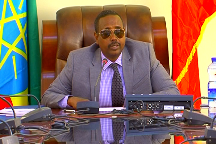 Former Ethio-Somali State President Abdi appeared in court today