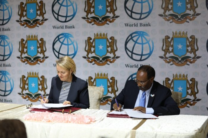 Somalia signs 80M grant agreement with World Bank