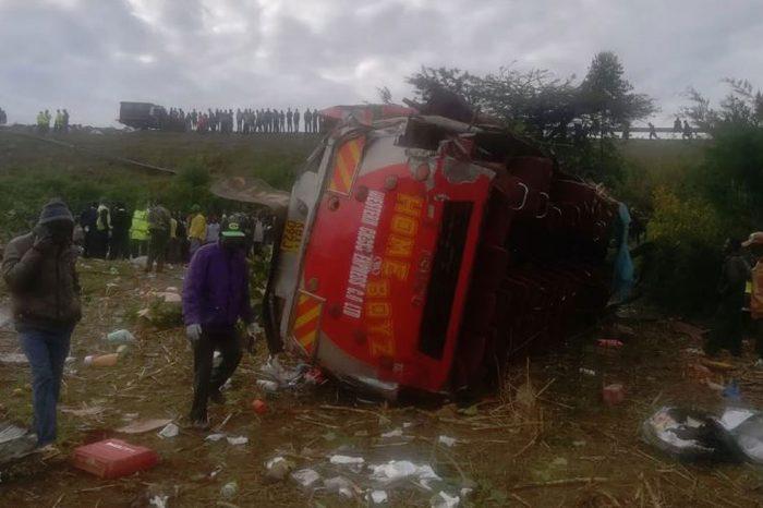 Death toll hits 55 in Kerich bus crash, Kenya police say