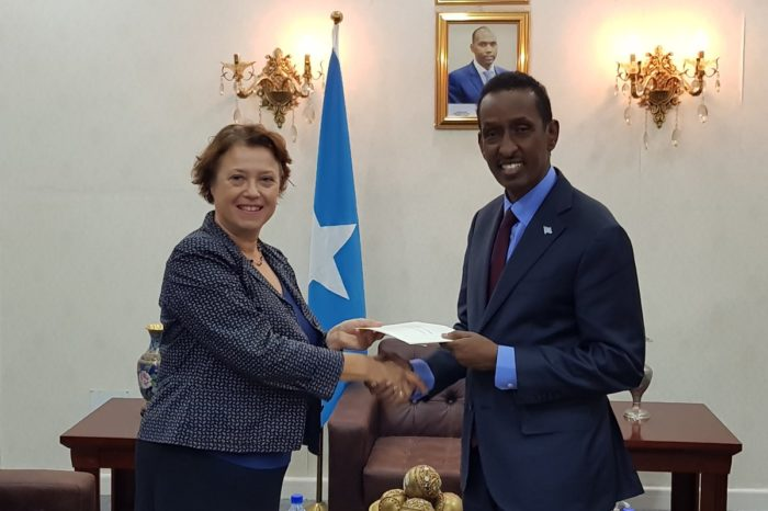 Somali FM receives a copy of credential from new French envoy