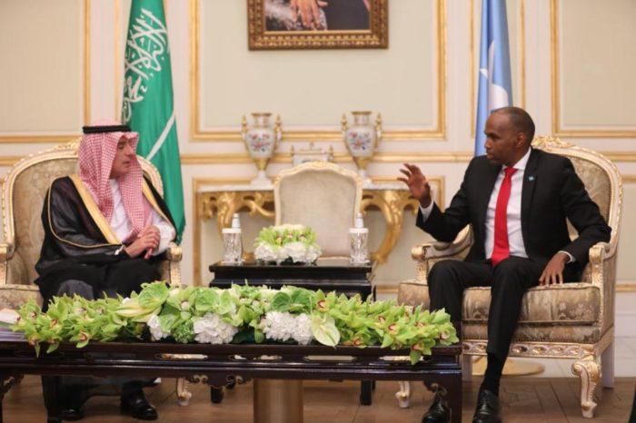 Somali PM meets Saudi foreign Minister in Riyadh
