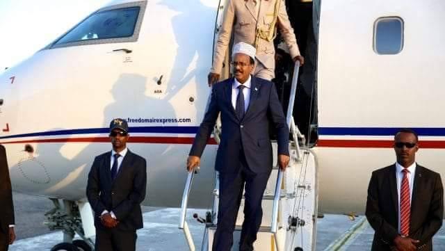 President Farmajo arrives in Marka town
