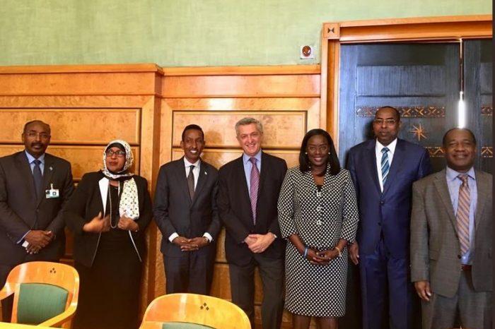 Somali FM meets head of UNHCR in Switzerland