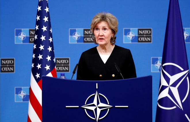 U.S. would destroy banned Russian warheads if necessary: NATO envoy
