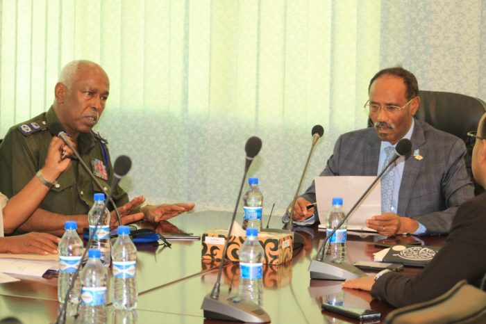 Somalia finance minister hold meeting with police commissioner