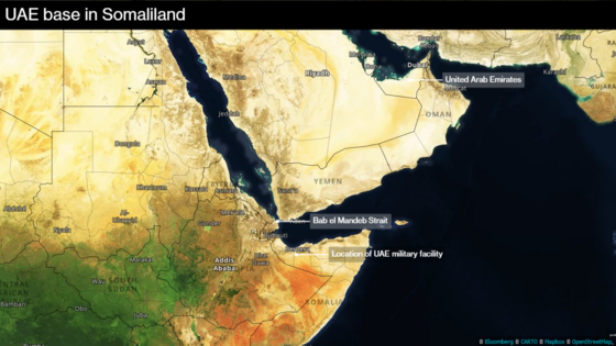 U.A.E. to open its military base in Somaliland mid next year