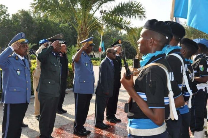 Somali Police Officers completed a training course in Djibouti